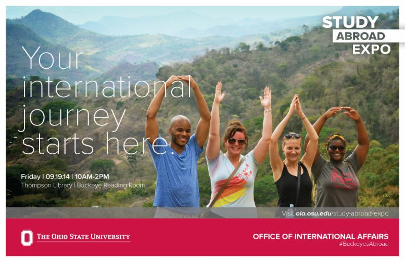 2014 Study Abroad Expo poster