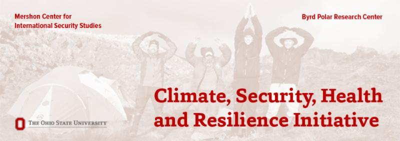 Climate, Security, Health and Resilience graphic
