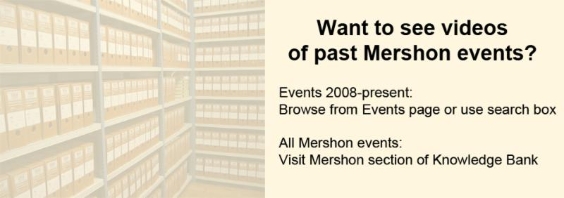 Mershon event archives