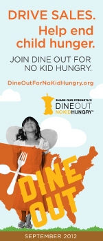 Dine Out No Kid Hungry skyscraper