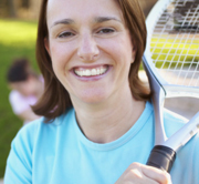 Woman with Racquet