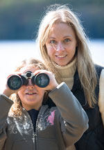 Mother and Daughter with Binoculars