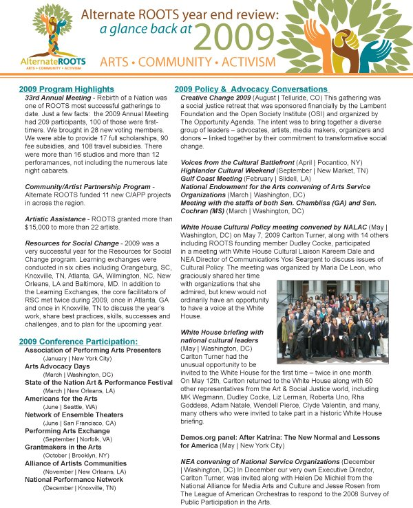 ROOTS 2009 Report