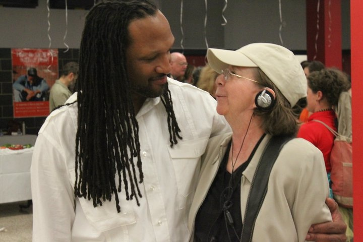 ROOTS executive director Carlton Turner and Jo Carson at Alternate ROOTS 35th Birthday Celebration