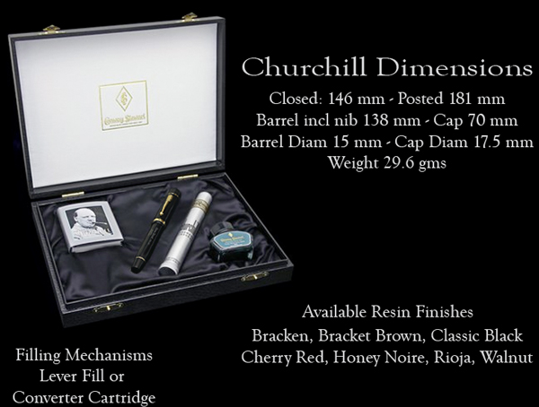Conway Stewart Churchill dimensions