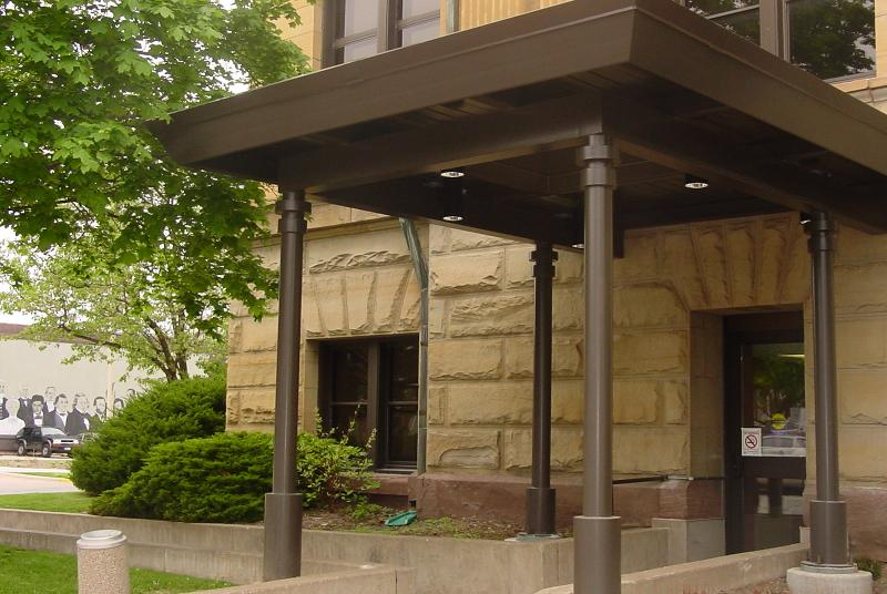 This covered entrance at the Main LIbrary is just one project made possible by Foundation dollars.