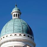 photo of the top of Old Main, Augustana College