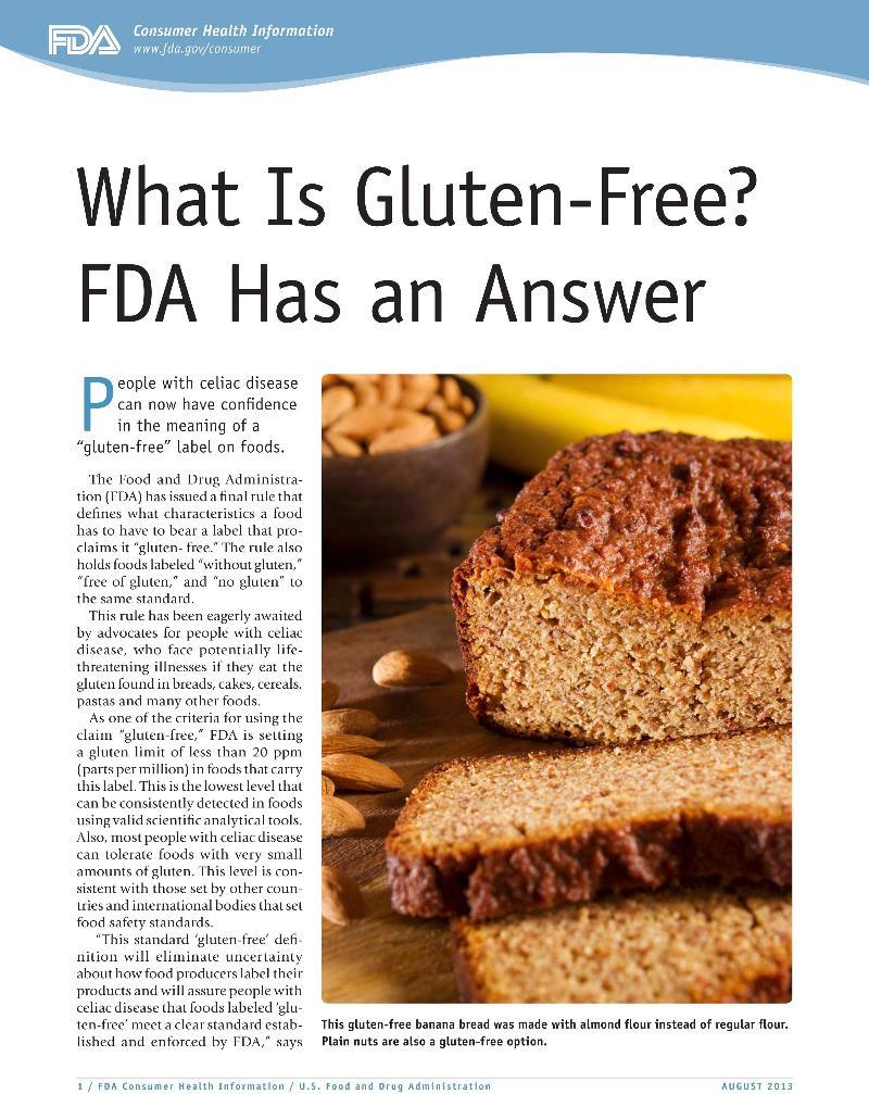 Gluten Free Article