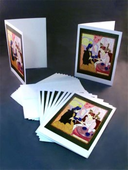 TGT introduces note card set of 10 featuring Mary Cassatt inspired image.