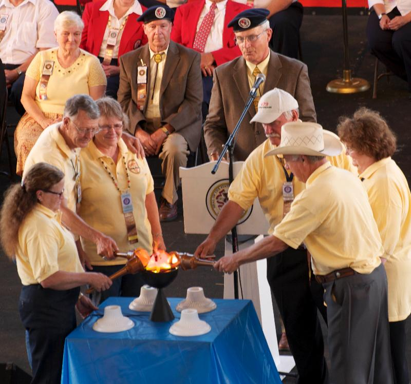 The Lighting of the Torch in DuQuoin, 2011