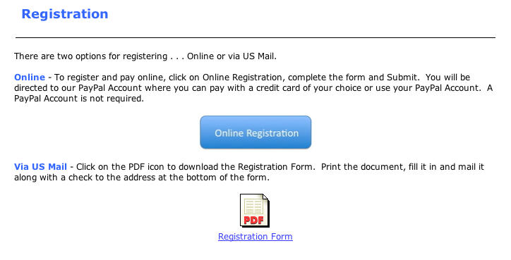 FSR On-Line Registration