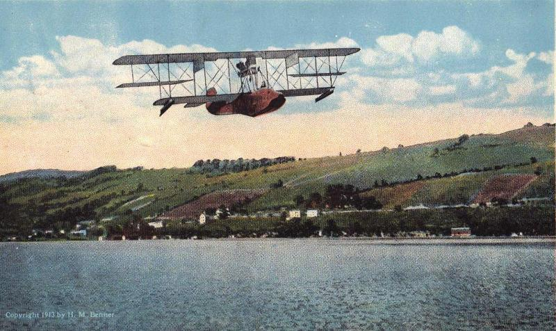 Flying Boat in the Air
