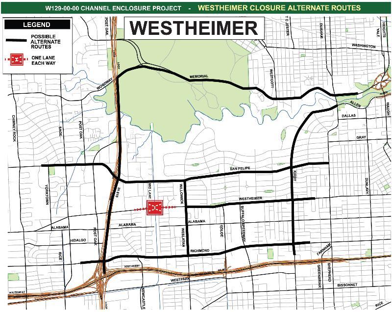 Westheimer Closure Alternate Routes