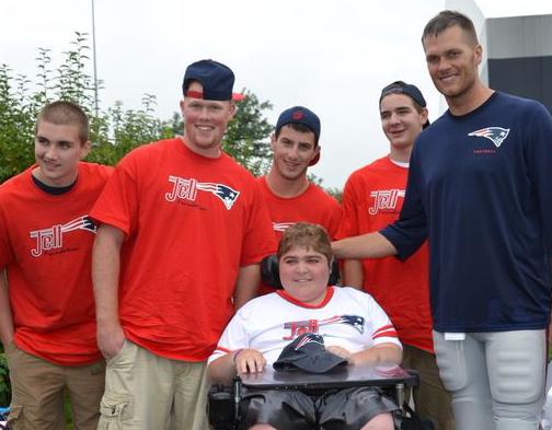 Jett and Tom Brady