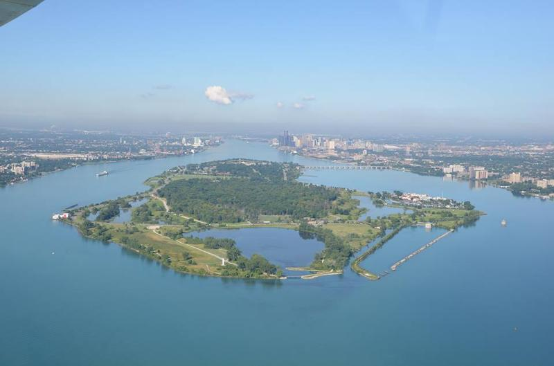 Aerial view of Belle Isle 2013