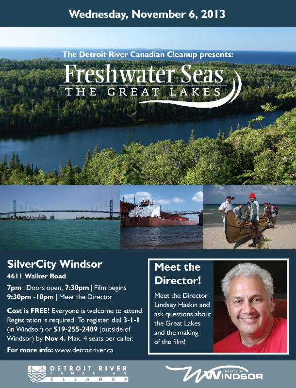 Poster for the 2013 Freshwater Seas Film Screening Event