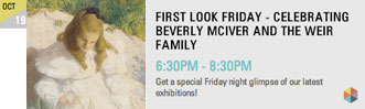 FIRST LOOK FRIDAY - CELEBRATING BEVERLY MCIVER AND THE WEIR FAMILY