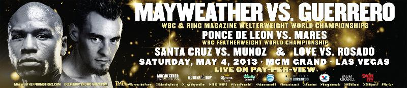 FIGHT WEEK MEDIA SCHEDULE MAYWEATHER VS. GUERRERO