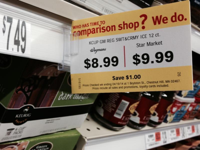 Wegman's Price Comparison