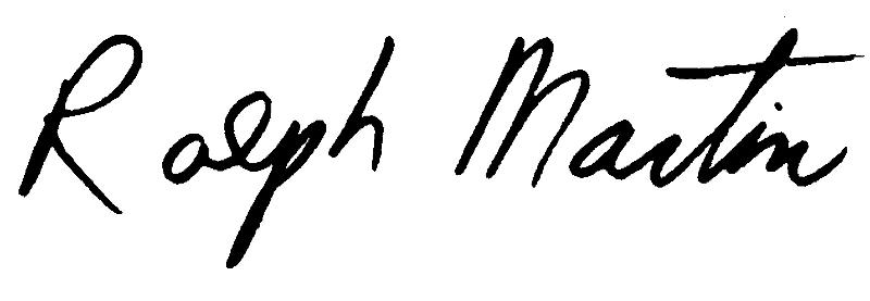 Ralph Martin Signature