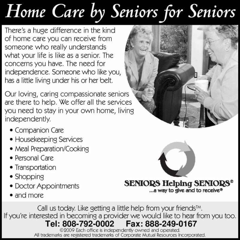Seniors Helping Seniors 2013-2014