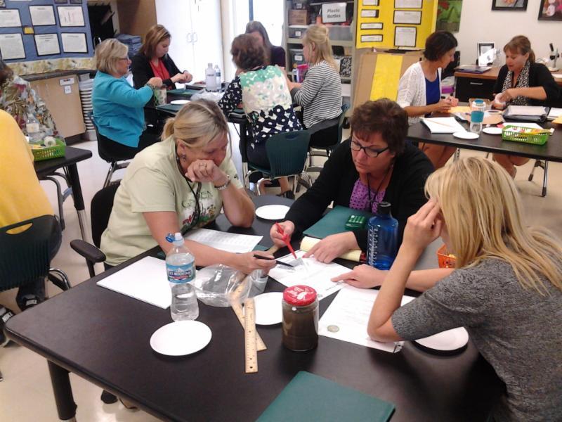Teachers at Cedar Park Elem try out ag activities