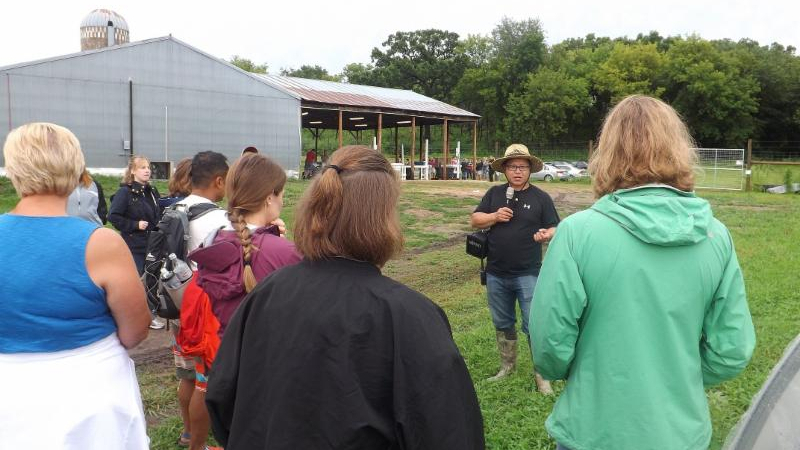 Teachers tour farm