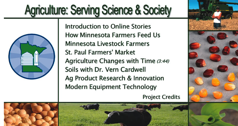 Ag Serving Science an Society table of contents