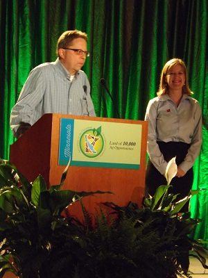Al WIthers and Sarah Dornink kick off the conference