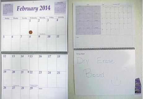 2014 Calendar Size
