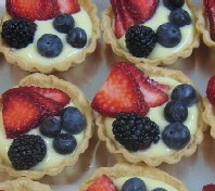 lemon icebox fruit tarts