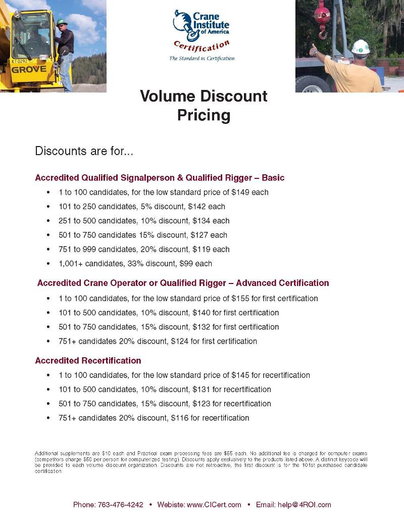 Volume Discount Pricing