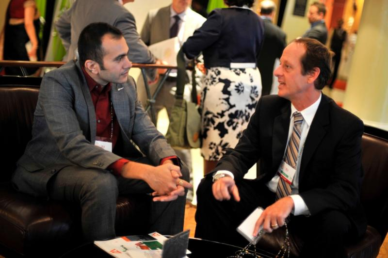 USAID Trade Africa Deputy Coordinator Matt Rees discusses how Trade Africa is helping to facilitate trade and investment in East Africa with textile buyer Ashwajeet Garg.