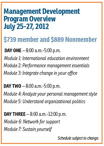 2012 Summer MDP Schedule