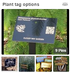 Pinterest Plant Tag board
