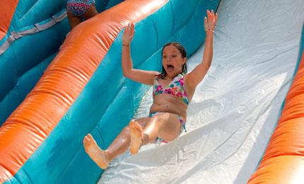 Water slide bikini top comes off