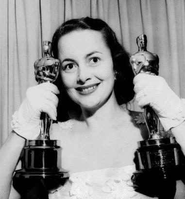 Olivia with Oscars
