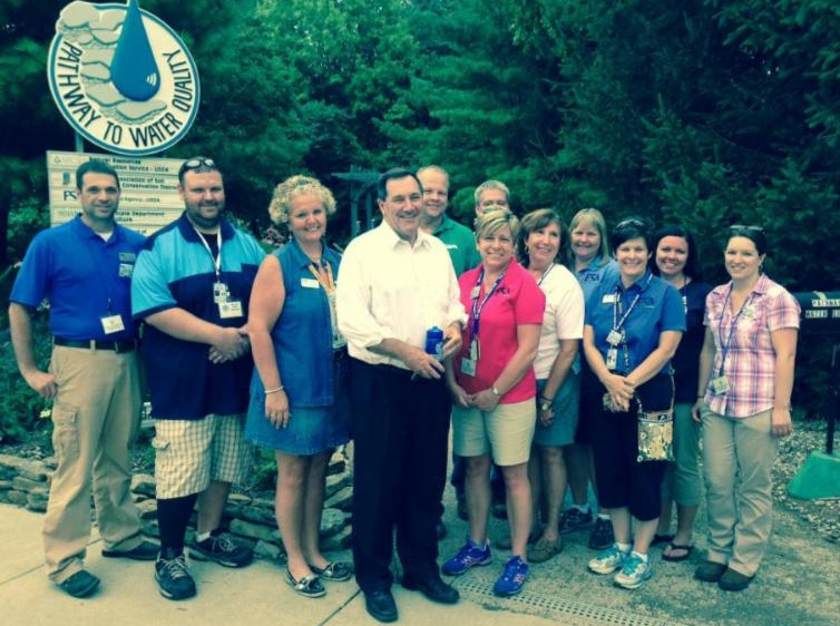 Senator Donnelly and PWQ volunteers.