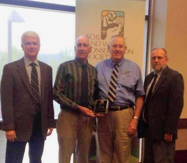 Les Zimmerman and Bob Eddleman accepted the SWCS Merit Award for CCSI. Dan Towery served as past President of SWCS.