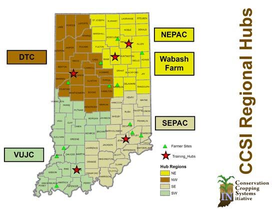 CCSI Hubs and Farmer Sites