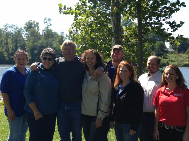 The Clay Co. visit included a trip to a local park where trees from the project will be planted.