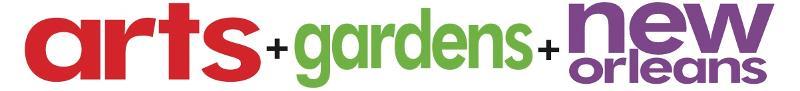 arts + gardens + no logo