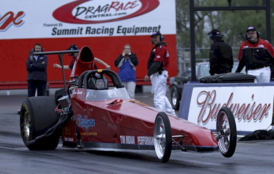 TIP dragster launch on 6.81 pass