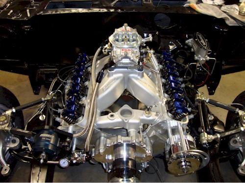 Michelle Moretti's engine bay