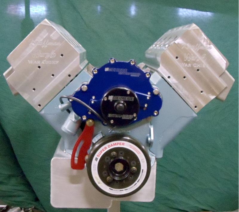 KRE's 1st cast Canted Valve Headed Engine