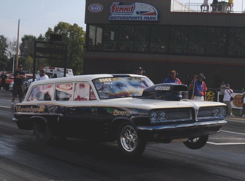 Mark Pickett's '63 Tempest Wagon yanking the wheels