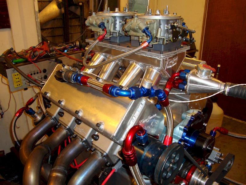 KRE WARP 6 engine on the dyno