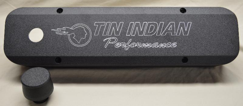 Pontiac valve cover limited edition Black Crinkle Coat Billet-Tek