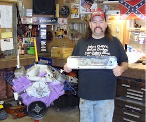 Ken Rogala winner of the 2010 Billet-TEK valve cover give away