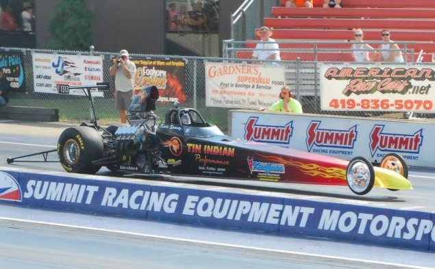TIP dragster 2012 Pontiac Nationals Q16 qualifying